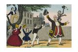 Children Raise their Arms in Joy with their Teacher Konst av Charles Butler