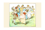 Square Dance Prints by Randolph Caldecott