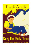 Please Keep the Park Clean Art by Stanley Thomas Clough