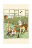 Dogs Come to Eat by the Farmer's Table Along with the Shepherd Boy Art by Randolph Caldecott