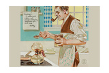 Recipe for Coffee Prints by Joseph Christian Leyendecker