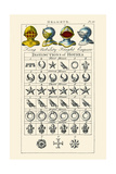 Helmets and Distinction of Houses; King, Nobility, Knight, Esquire Poster by Hugh Clark
