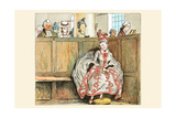 Mrs. Blaize Always Looked Wonderful When She Went to Church Prints by Randolph Caldecott