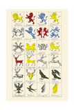 Heraldry - Charges Poster by Hugh Clark