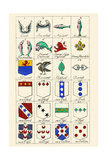 Heraldry - Charges Prints by Hugh Clark