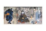 Apparition of the Monstrous Cat Prints by Kuniyoshi Utagawa