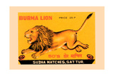 Burma Lion Poster