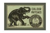 Elephant Colour Matches Posters