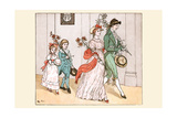 Off She Went with Her New Husband and Her Children Prints by Randolph Caldecott