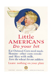 Little Americans: Do Your Bit Poster by Cushman Parker