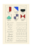 Partition Lines for Shields of Heraldry Prints by Hugh Clark
