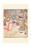 Happily the King Danced with the Queen of Hearts Posters by Randolph Caldecott