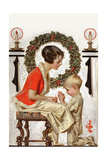 Christmas Prayer Posters by Joseph Christian Leyendecker