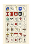 Ordinaries, Charges and their Names Print by Hugh Clark