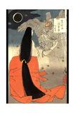Night Moon over Mount Manno Prints by Taiso Yoshitoshi