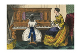 Young Girl Play a Piano Planscher av Charles Butler