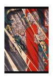 Watanabe No Tsuna Cutting the Arm of the Demon at Rashomon Prints by Taiso Yoshitoshi
