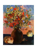 Flowers and Cats Print by Paul Gauguin