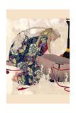 Watanabe No Tsuna and the Demon of Ibaraki Poster by Taiso Yoshitoshi