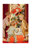 What Is Santa Doing to Mommy Posters by Joseph Christian Leyendecker