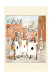 Horn Call and Hue and Cry Was Issued by the Cards of Court Prints by Randolph Caldecott