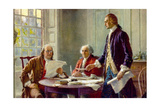 Writing the Declaration of Independence in 1776 Posters by Jean Leon Gerome Ferris