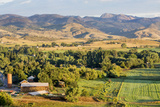Irrigated Foothills Farmland in Sunrise Light, Belvue near Fort Collins in Northern Colorado Prints by  PixelsAway