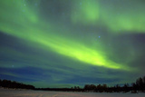 Northern Lights (Aurora Borealis) over Snowscape. Posters by Jorg Hackemann