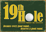 19Th Hole Tin Sign Placa de lata