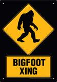 Big Foot Xing Tin Sign Plakietka emaliowana