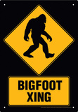 Big Foot Xing Tin Sign - Metal Tabela