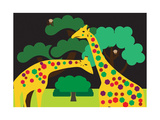 Colored Giraffes Print by  Micha_Eyal