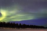 Northern Lights (Aurora Borealis) over Snowscape. Print by Jorg Hackemann
