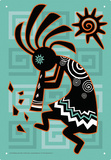 Kokopelli Tin Sign Tin Sign
