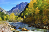River and Colourful Mountains of Colorado during Foliage Season Photographic Print by Alexey Kamenskiy
