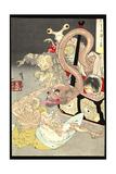 Pandora's Box: Omoi Tsuzura and Yokubari Obasan Print by Taiso Yoshitoshi