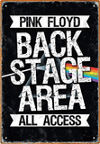 Pink Floyd Backstage Tin Sign Tin Sign