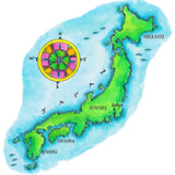 Map of Japan Impressão fotográfica por Jennifer Thermes