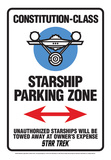 Star Trek - Star Ship Parking Tin Sign Tin Sign