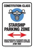 Star Trek - Star Ship Parking Tin Sign Tin Sign