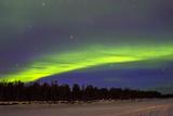 Northern Lights (Aurora Borealis) over Snowscape. Poster by Jorg Hackemann