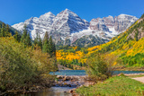 Maroon Bells in Fall Photographic Print by  twildlife