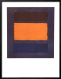 Untitled, Brown and Orange on Maroon Posters by Mark Rothko