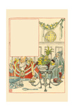 Overeating and Overdrinking, Christmas Turned Away Dried Fish as Unfit for a Gentleman Posters by Walter Crane