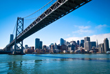 Bay Bridge and Embarcadero Photographic Print by Lily Chou
