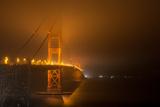 Golden Gate Bridge & Night Fog, San Francisco Photographic Print by H Matthew Howarth [flatworldsedge]
