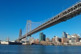 Sailing under the Bay Bridge Photographic Print by Malinda B Shishido