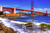 The Golden Gate Bridge HDR Photographic Print by Chris Stout