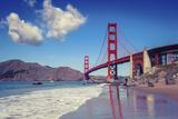 Golden Gate Bridge Seen from Baker Beach Photographic Print by Giorgio Fochesato