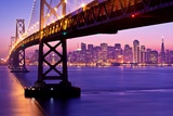 Bay Bridge Twilight Photographic Print by Tom Grubbe